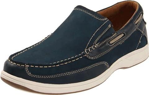 Florsheim Men's Lakeside Slip Boat Shoe, Navy, 10 M US - Classic Moc Slip