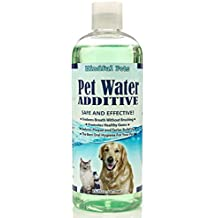 Pet Water Additive Dental Care - Freshen Breath, Promote Healthy Gums, Reduce Plaque and Tarter Build Up - For Dogs and Cats, 16oz