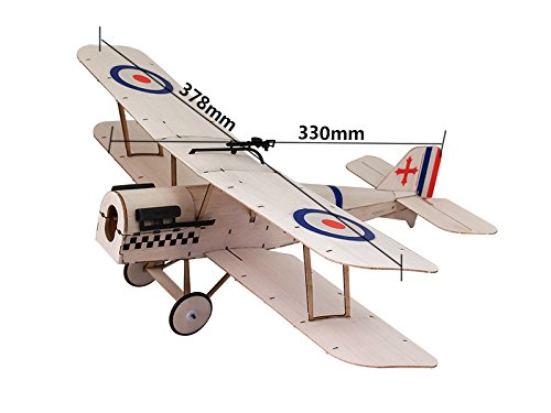 RC Airplane 3CH Radio Remote Controlled Electronic Aircraft Mini Balsa Wood Indoor Plane Model Wingspan 378mm SE5A kit With Power (Mini Power Wing)