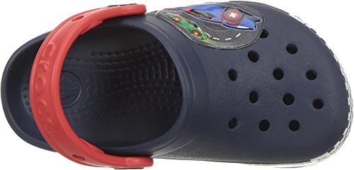 Image of crocs Crocband  Fun Lab  Woody Light-Up Clog, Navy Blue, 7 M US Toddler (1-4 Years)