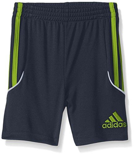adidas Toddler Boys' Active Stripe Short, Mercury Grey/Lime, 3T