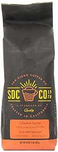 San Diego Whole Bean Roasted Coffee, Columbian Supremo, 16 Ounce