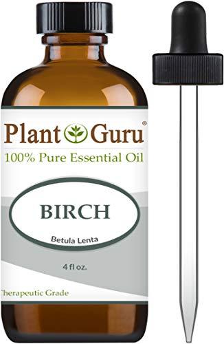Birch Essential Oil 4 oz 100% Pure Undiluted Therapeutic Grade. (White Birch Essential Oil)