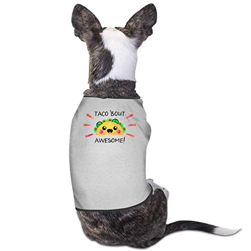 CY SHOP Taco Bout Awesome Pet Service Pet Clothing Funny Dog Cat Costume Tshirt -