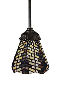 Elk 078-Tb-20 Basket Weave Mix-N-Match 1-Light Pendant, 23-1/2-Inch H, Tiffany Bronze
