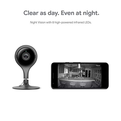 Google Nest Cam Indoor 3 Pack - Wired Indoor Camera for Home Security - Control with Your Phone and Get Mobile Alerts…