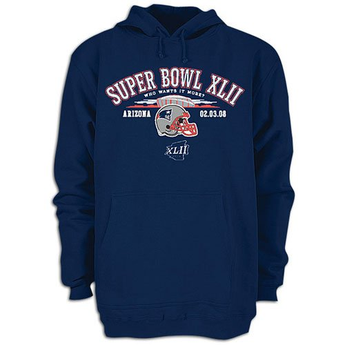Patriots Reebok Men's NFL SB XLII Strive Hoody ( sz. L, Navy : Patriots )