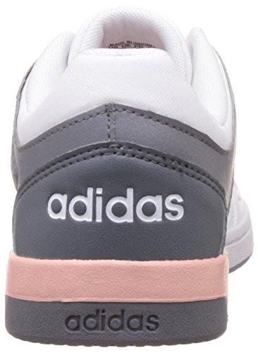 adidas Hoops Team W, Chaussures pour Le Basketball Femme Blanc (Ftwbla / Rosvap / Gris)
