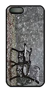 sale covers Snowfall Park Bench PC Black Case for iphone 5/5S