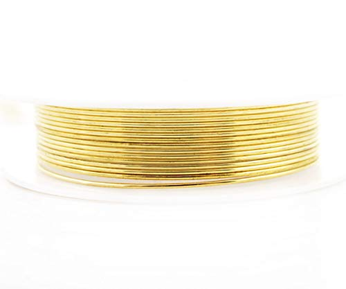 (2.5m 6.5ft 2.1yrd Gold Wrapped Artistic Aluminium Beading Artisan Craft Jewelry Wire Wrap On Spool Jewelry Cord Soft Temper 0.8mm Gauge 20 )