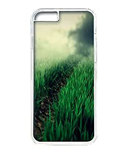 VUTTOO Iphone 6 Case, Foggy Grass Field Path PC Plastic Hard Case Cover for Apple iPhone 6 4.7 Inch PC Transparent