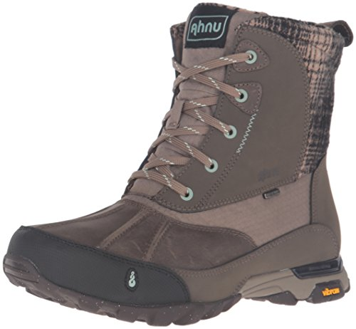 Ahnu Women's Sugar Peak Insulated Waterproof Hiking Boot, Alder Bark, 6.5 M US