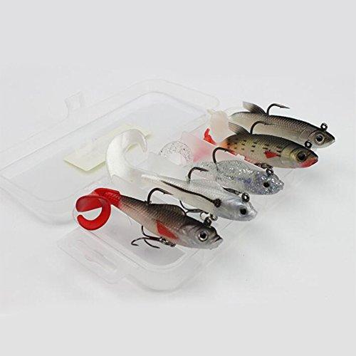 Bait Fake de Color Señuelos 5pcs Accesorios Lure Multi Gancho Pesca Soft Swimbait Qiyun Fishing Pesca Pesca Set Kit xaABwPnqn