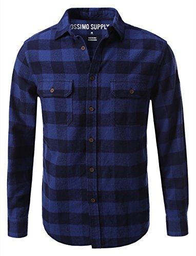 Mossimo Mens Flannel Button Down Shirt
