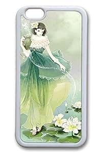 Anime Girl Aquarius Cute Hard Cover For iPhone 6 Plus Case ( 5.5 inch ) TPU White Cases by icecream design