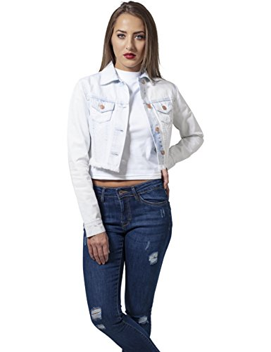 Classics Bleached Bianco In Urban Giacca heavy Short Jacket Denim Jeans Donna 832 Ladies dnzzqrP