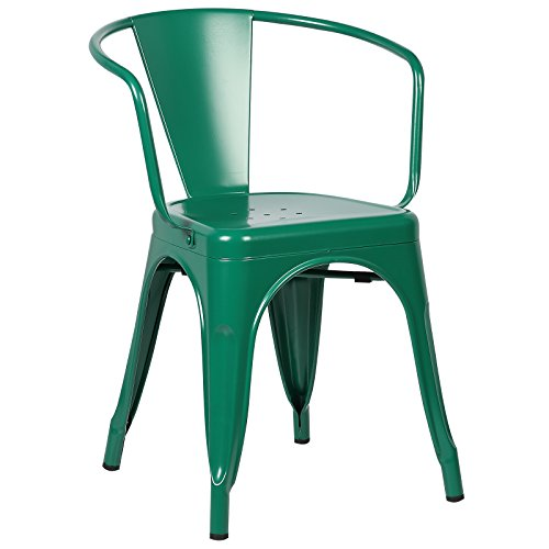 Poly and Bark Trattoria Arm Chair in Dark Green by POLY & BARK