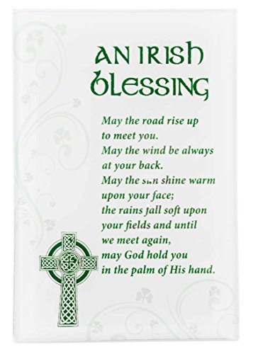 - Small Glass Plaque with Irish Blessing Standing Decoration