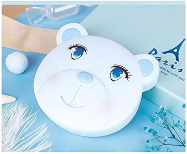 旅行用の葉巻の箱 ミルク歯は子供の歯の子ストレージ胎児コレクションは、コードの保存と女の赤ちゃん記念ボックスを歯付きボックス プロ保湿ケース (Color : Blue)