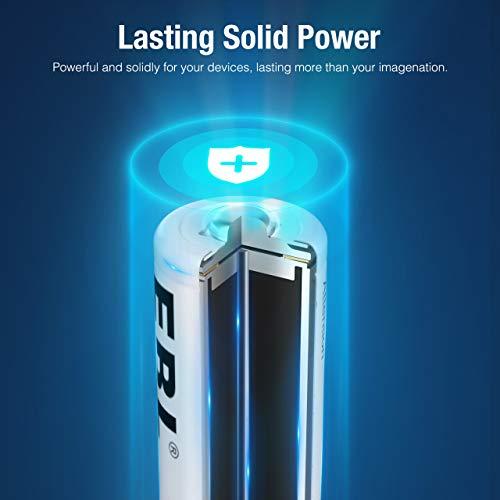 EBL AA AAA NiMH Rechargeable Batteries Set, 4 x 2800mAh AA Battery bundle with 4 x 1100mAh AAA Battery and 2 x Rechargeable Battery Cases