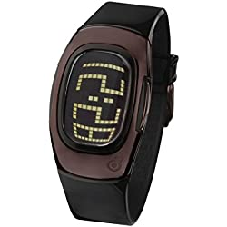 ZERONE Illusion 2 Black IP Brown Digital Watch