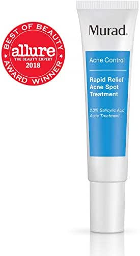 Murad Rapid Relief Acne Spot Treatment with 2% Salicylic Acid - (0.5 fl oz), Maximum Strength Invisible Gel Spot Treatment for Fast Acne Relief That Reduces Blemish Size and Redness Within 4 Hours