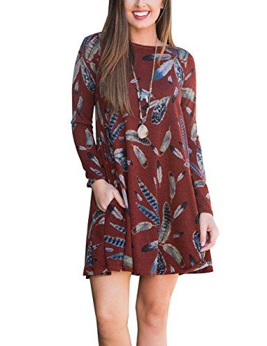 floral print sweater dress - 4