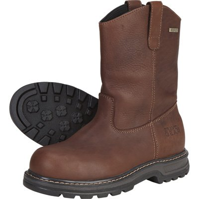 Gravel Gear Waterproof 10in. Steel Toe Wellington Boot - Brown (10)