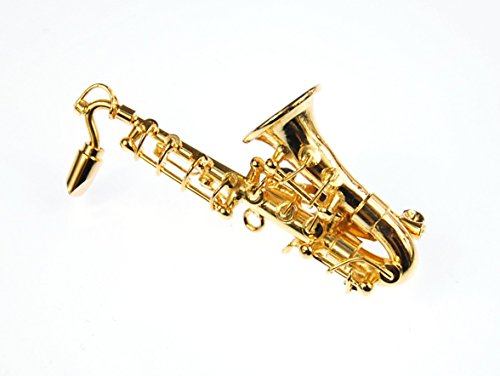 Miniblings saxophone saxofonbrosche broche broche box verg. saxophone baryton