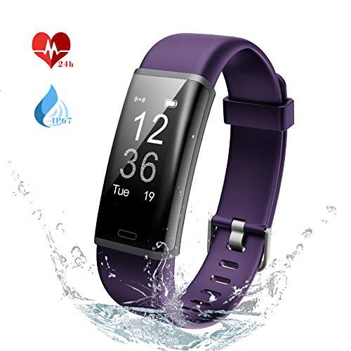 Lintelek Fitness Tracker, Heart Rate Monitor, Activity Tracker IP67 Waterproof, Sleep Monitor Remote Camera, Multiple Sports, Bluetooth Pedometer, Smart Watch for Kids Women and Men