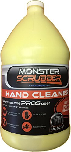Throttle Muscle TM7627 - Monster Scrubber Industrial Hand Cleaner Micro Polymer Beads with Moisturizer 1 Gallon ()