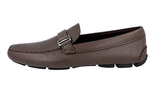 Prada Homme 2dd113 053 F0201 Saffiano Chaussures De Cuir
