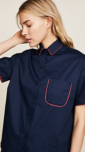 Maison du Soir Women's Jackson PJ Top, Navy, Medium by Maison Du Soir (Image #5)