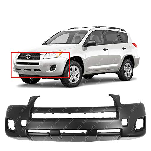 MBI AUTO - Primered, Front Bumper Cover Fascia for 2009 2010 2011 2012 Toyota RAV4 09-12, TO1000349