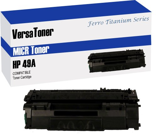VersaToner - 49A Q5949A MICR Toner Cartridge for Check Printing - Compatible with LaserJet 1160, 1320, 3390, 3392 by VersaToner