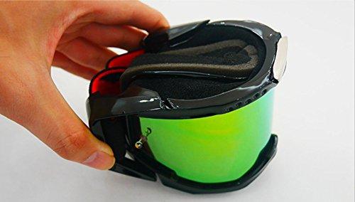 Montar de PC Impermeable Caballero Material Prueba Todoterreno antideflagrante e de Equipo A para Polvo Green Todoterreno Gafas UxqwS5M4Fq