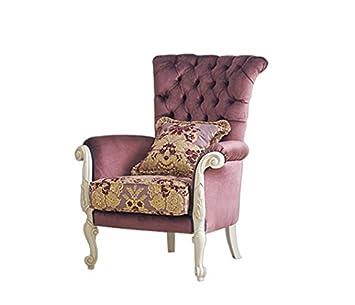 Amazon De Gepolsterter Sessel Im Stil Sessel Fur Wohnzimmer