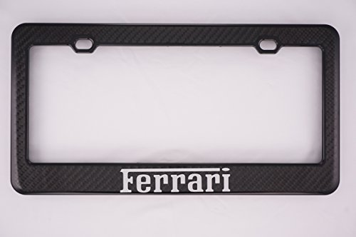 None Ferrari Carbon Fiber License Plate Frame
