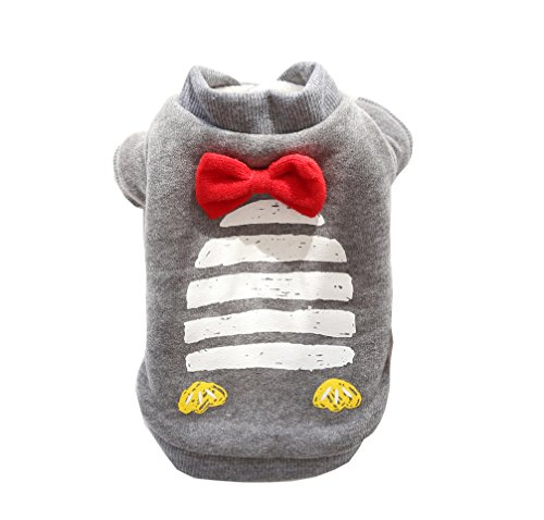 BBEART Dog Clothes,Lovely Small Dog Winter Clothes Warm Hoodies T-Shirt Puppy Coat Soft Cotton Cat Dog Clothing For Small Dog Like Puppy Chihuahua Yorkshire (XS--19cm, Grey)
