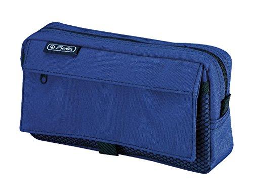 Herlitz 50009756large rectangular pencil case, 1 mesh pocket with Velcro...