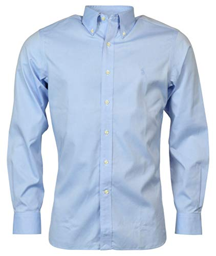 Polo Ralph Lauren Men No-Iron Pinpoint Oxford Dress Shirt, Blue, 15 1/2, 32-33