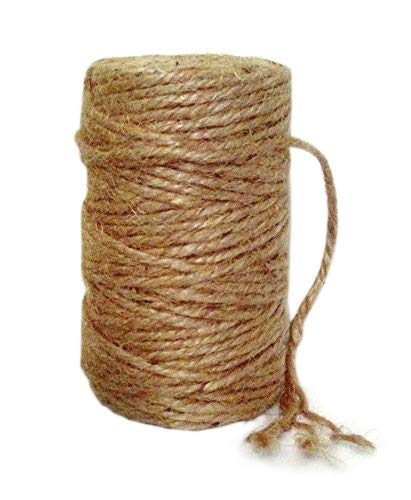 AAYU Brand Premium Jute Rope | Jute Garden Twine | Best Quality Unique Dark Garden Twine | Supports Vines, Plants and Vegetables Pottery Product (3 Ply 100 Feet)