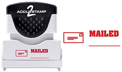(ACCUSTAMP2 Message Stamp with Micro ban Protection, MAILED, Pre-Ink, Red (035586))
