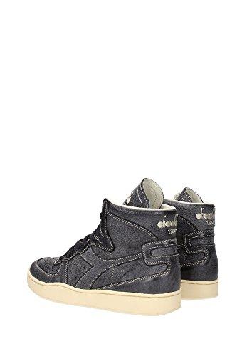 Diadora Heritage, Uomo, Mi Basket Power, Pelle, Sneakers Alte, Nero Grigio