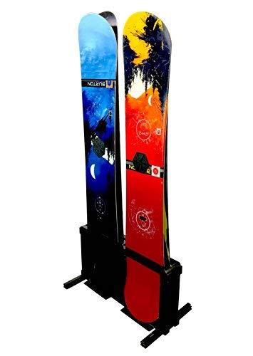 Snowboard Equipment Rentals - StoreYourBoard Snowboard Storage Rack, Freestanding Snowboard Floor Rack, 4 Boards