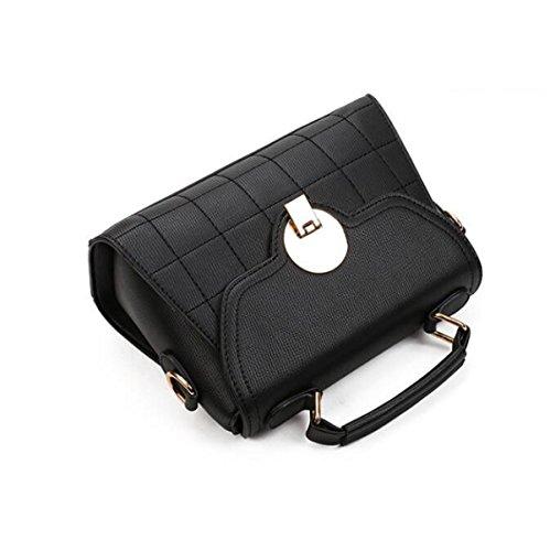 Bolso De Hombro De Las Mujeres CHFUD Messenger Bag PU Hebilla Magnética De La Moda Lightbrown