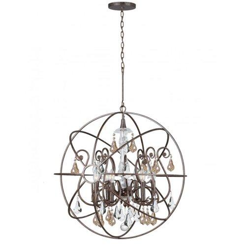 Crystorama Lighting 9028-EB-GS-MWP Chandelier, English Bronze