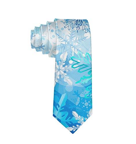 Snowflakes Pattern Formal Tie, Men Neckties Suit Accessories - Fashion Slim Party Suit Neckties