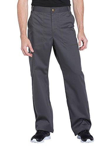 Dickies Tie (Dickies Essence by Men's Drawstring Zip Fly Scrub Pant X-Large Pewter)