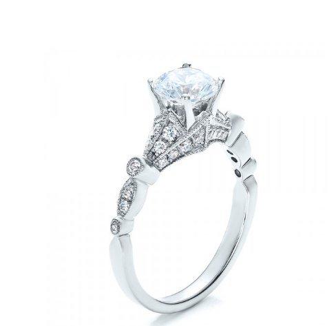 Gowe brillant 1CT Esdomera moissanites 9K Or blanc Bijoux Bague de fiançailles en or blanc diamant Mariage Couleur F Lab Cultivées Diamant